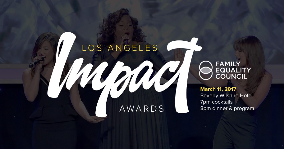 Family Equality Council's LA Impact Awards Just Two Weeks Away