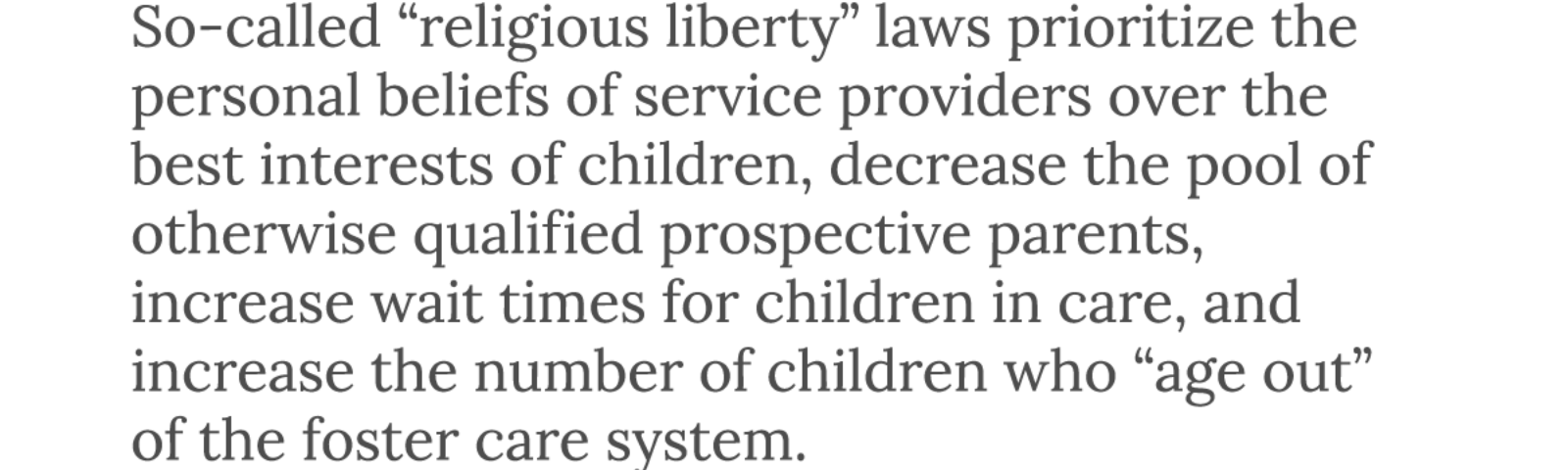 Religious Exemptions for Child Welfare Agencies: A License to Discriminate Against LGBTQ Parents and Children