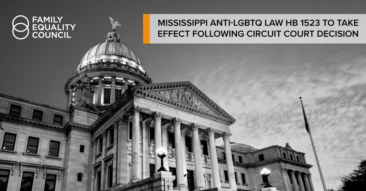 Mississippi's Anti-LGBTQ Law to Take Effect Following Circuit Court Decision