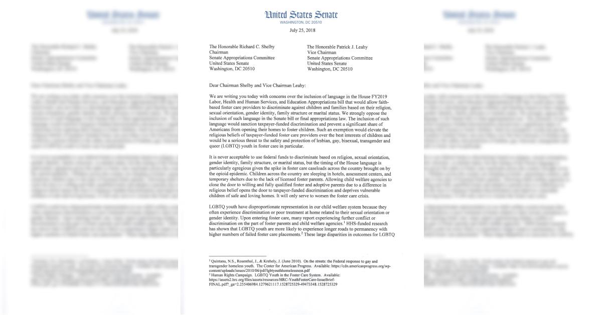 Wyden Letter Adoption Discrimination