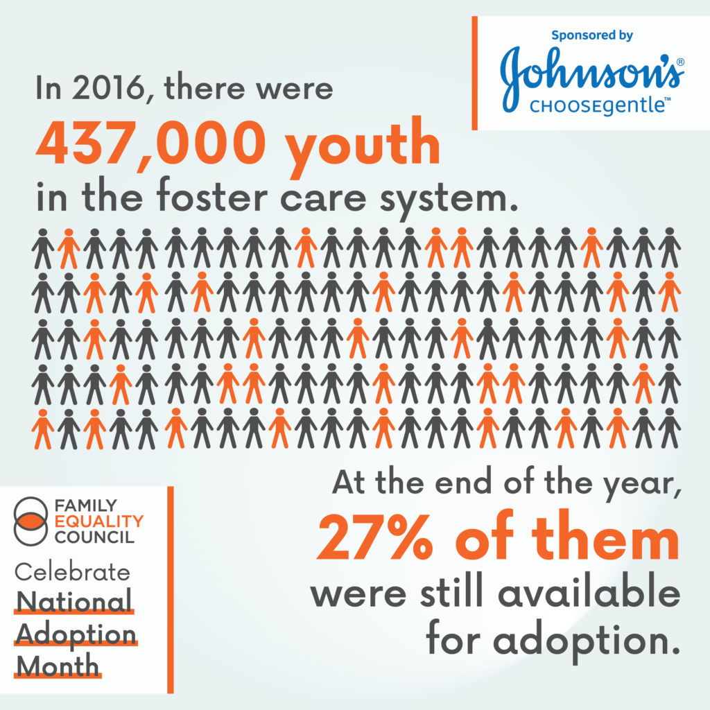 In 206, there were 437,000 youth in the foster care system. At the end of the year, 27% of them were still available for adoption.