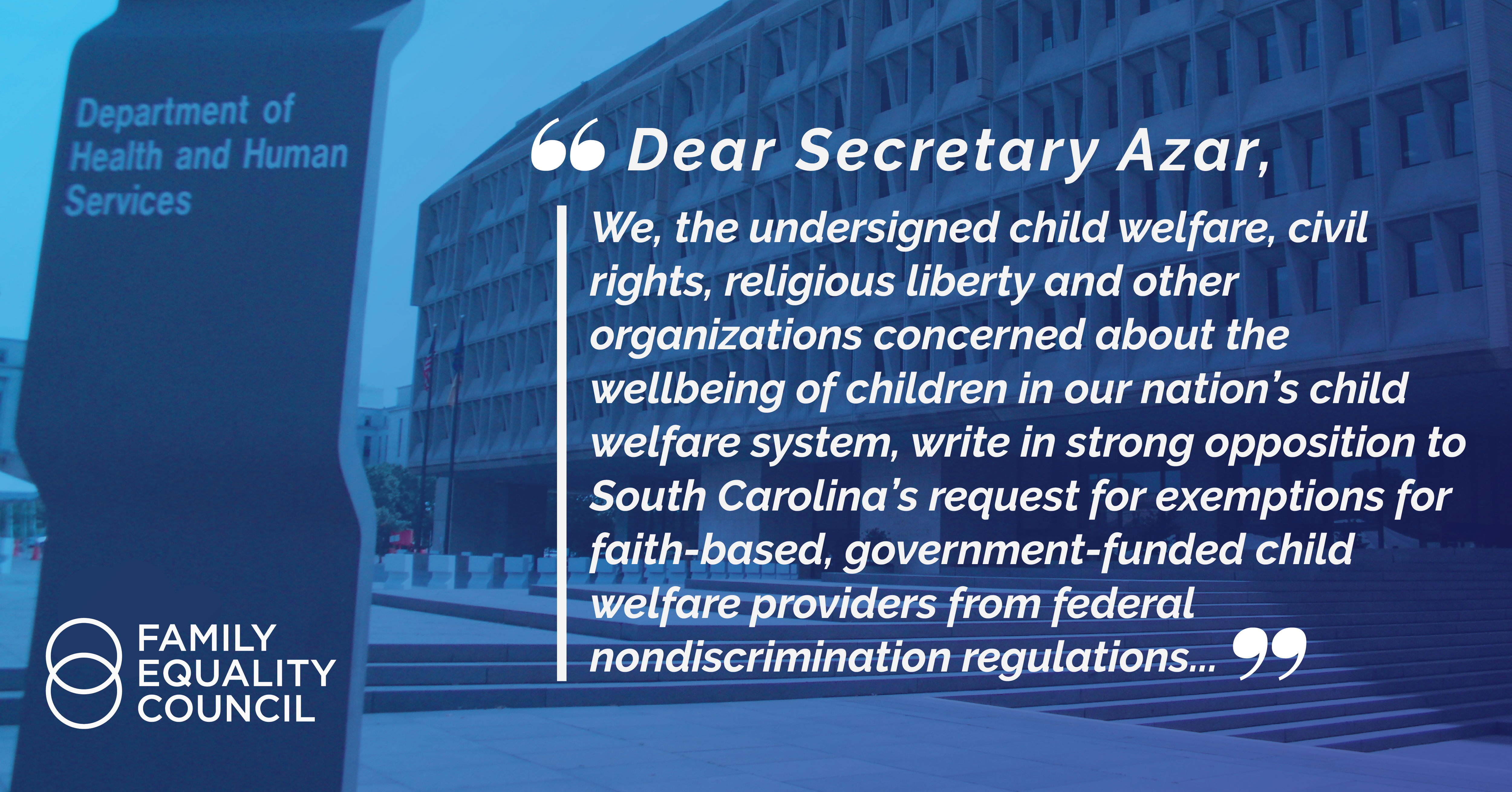 Letter to HHS Secretary Azar