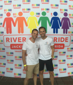 Scott and Josh at Pride in Florida