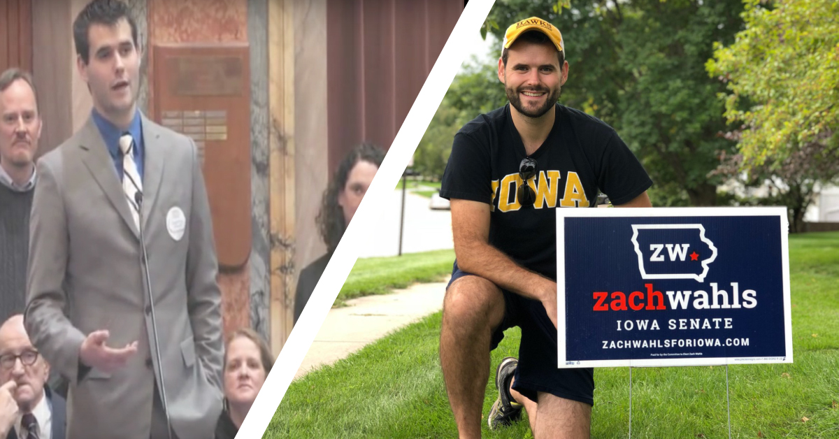 Zach Wahls Wins Iowa State Senate Race