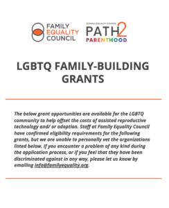 LGBTQ Family Building Grants