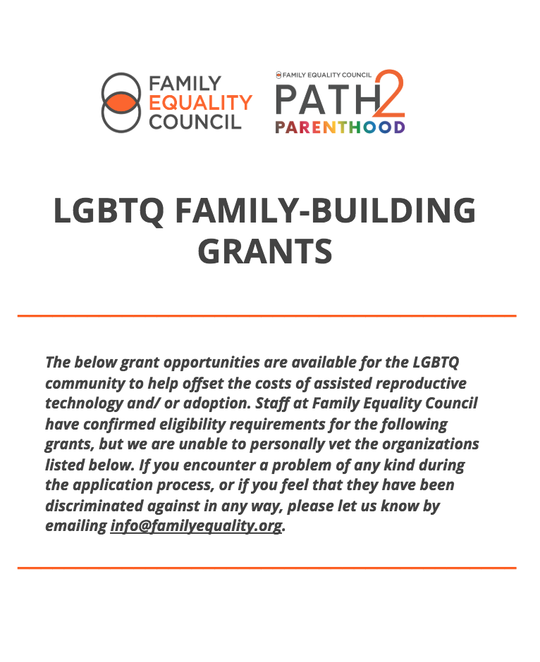 LGBTQ Family Building Grants