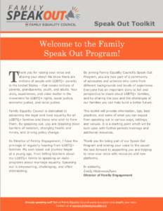 Family Speakout Toolkit