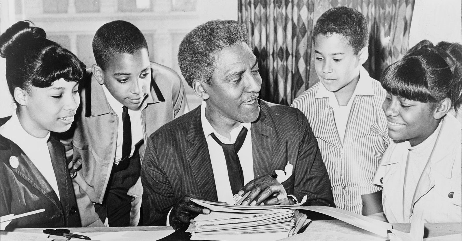 Bayard Rustin with Group of Organizers