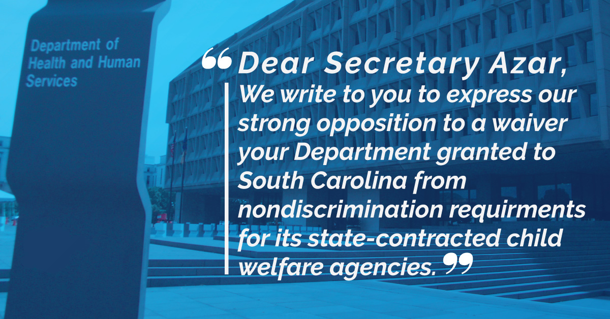 House Letter to HHS Quote