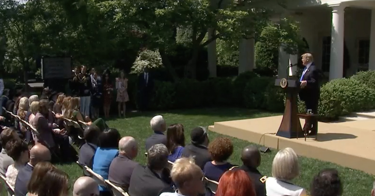 Trump Speaks in the Rose Garden May 2, 2019
