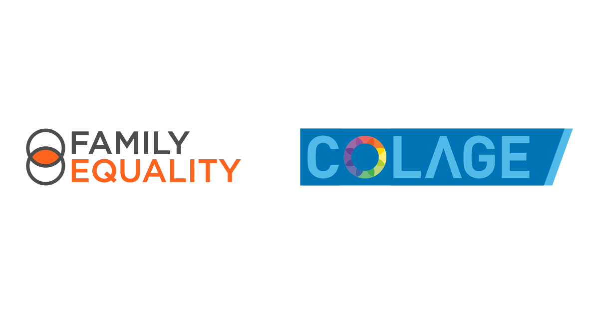 COLAGE and Family Equality logos