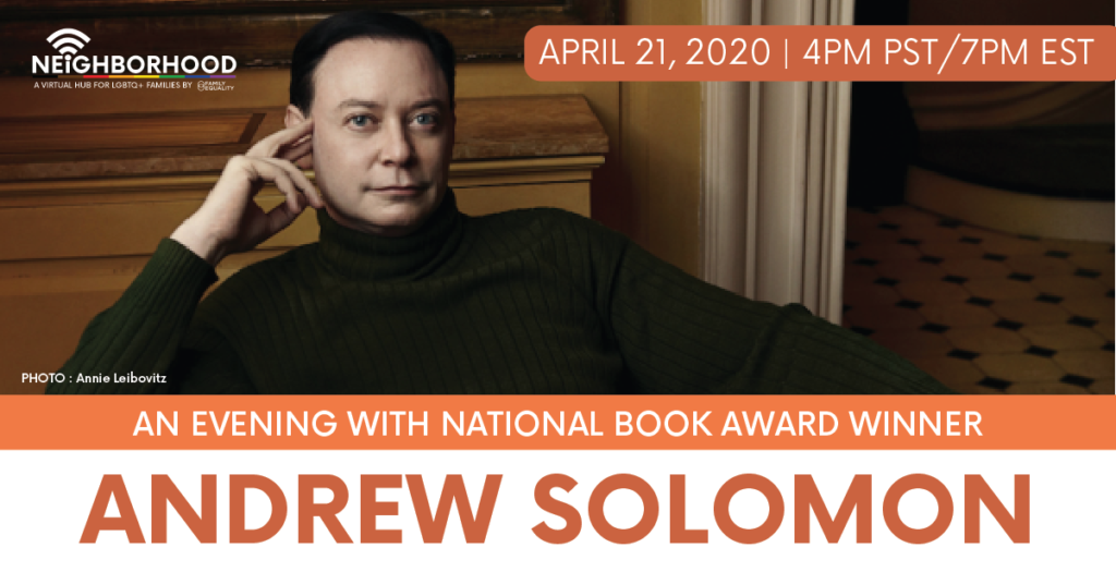 An Exclusive Evening with Andrew Solomon!