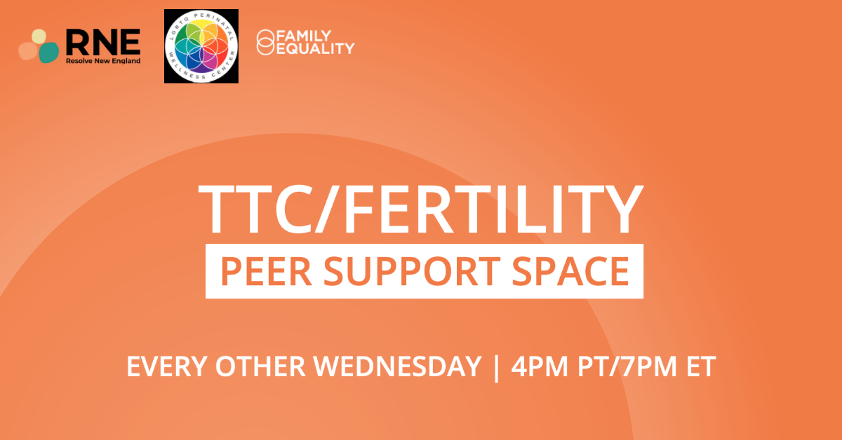 TTC/Fertility Peer Support Space | Every other Wednesday at 4pm PT/7pm ET
