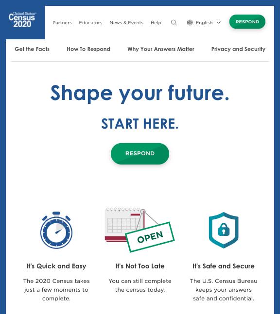 2020 Census Website (2020census.gov)