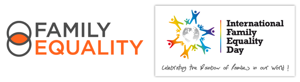 Family Equality and International Family Equality Day logos