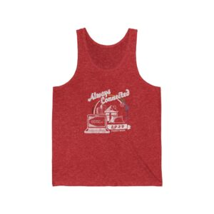 """Adult's Red Tank Top with Family Week 2020 """"Always Connected"""" Design"""