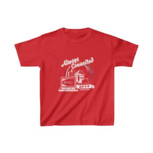 """Child's Red T-shirt with Family Week 2020 """"Always Connected"""" Design"""