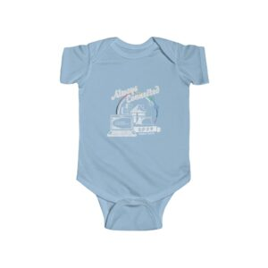 """Infant's Blue Onesie with Family Week 2020 """"Always Connected"""" Design"""