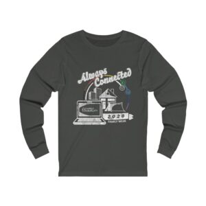 """Adult's Grey Long Sleeve Shirt with Family Week 2020 """"Always Connected"""" Design"""