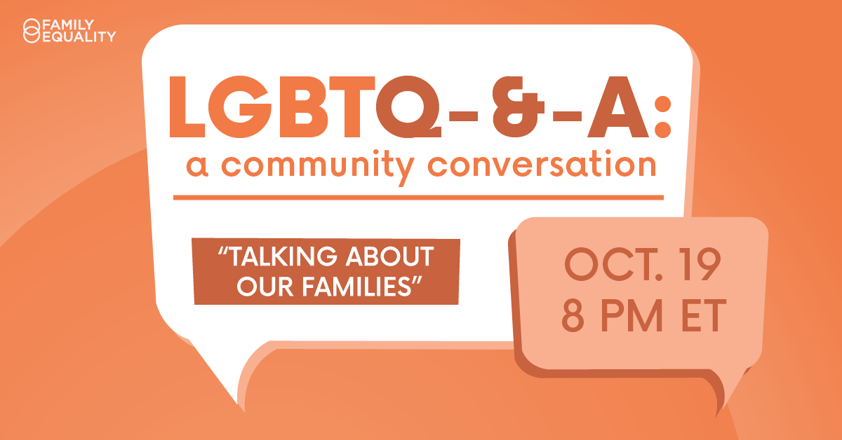 Community Conversations: Talking about Our Families on Oct 19 at 8pm ET