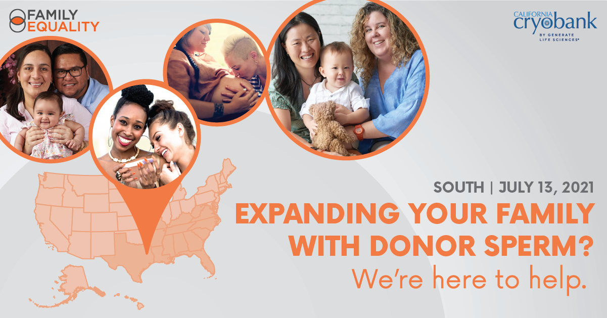 Expanding your family with donor sperm? We're here to help. Join us on July 13, 2021.