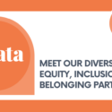 """Strata logo with text that says, """"Our Diversity, Equity, Inclusion, and Belonging Partners."""""""
