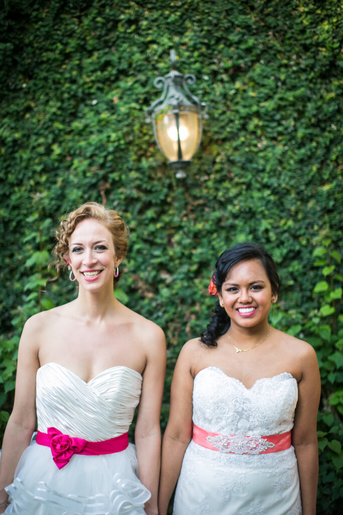 Photo of two brides